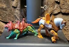 2 MOTU 1983 He-man tiger cat Horse  Masters of the Universe