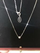 Cartier Diamants Legers Necklace Pendant XS K18 White Gold 0.04ct Rare F/S