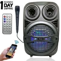 Wireless Portable Bluetooth Speaker Sound System LED Light Subwoofer Stereo Bass