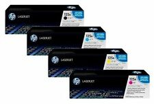 4 Original HP Color Laserjet CP1215 CP1515n CM1312 MFP / 125A CB540A bis CB543A