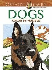 Adult Coloring Creative Haven Dogs Color By Number Book Diego Jourdan Pereira 2016 Paperback