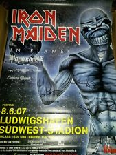 Iron Maiden Flames 2007 Signed Tour Konzert Plakat Concert Callejon Poster 84cm