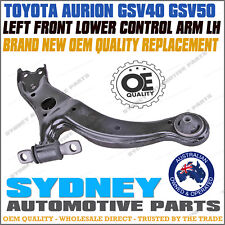 LEFT Toyota Aurion GSV40 GSV50 3.5L V6 2005-2015 Lower Control Arm with Bush LH