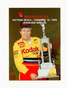 Sterling Marlin 1995 Zenith Winston Winners All Gold Foil Insert Card Pinnacle 1