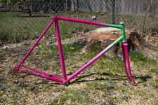 Bianchi Frame & Fork Headset 70s 80s Custom Paint Green Magenta Fade 700c Lugged