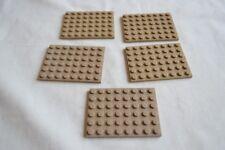 1801 Lego Platte 2x4 Beige 5 Stück