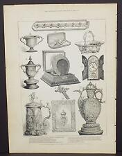 Illustrated London News Single-Page A3#46 Mar. 1888 Silver Wedding Presents