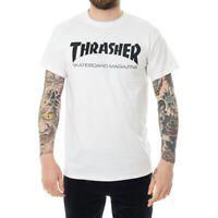 T-SHIRT UOMO THRASHER SKATE MAG T-SHIRT 110101WH  CREWNECK TEE MAN TRIBES Bianco
