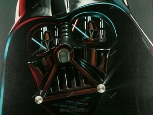 Darth Vader Oil Painting Star Wars Realism Hand-Painted Art Huge Canvas 36x48