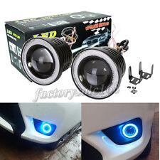 2x 3.5'' Car Projector LED Fog Light Ice Blue COB Halo Angel Eyes Ring Head Lamp