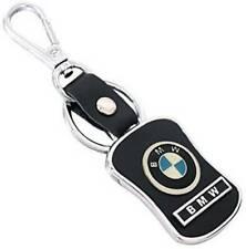 BMW Genuine Leather Metal Logo Locking Curved Key Chain key ring in gift box