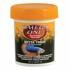 Omega One Betta Treat Bloodworms .11 oz 3 grams