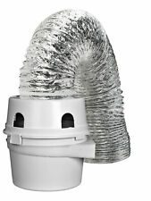 11.3 x 6.5 x 5.9 inches Louvered Vent Hood with Pipe and Collar and Two Plastic Clamps Clothes Dryer Vent Kit; Flexible Transition Duct