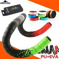 Road Bike Handlebar Tape Cork EVA PU Bicycle Rainbow Bar Tape 3D Damping Wrap