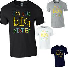 I'm The Big Sister Funny T-Shirt Cute Sister Birthday Gift Ladies Kids Tee Top