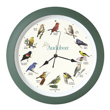 Audubon North American Song Bird Sound Clock 8 in. Green by Mark Feldstein AUD8