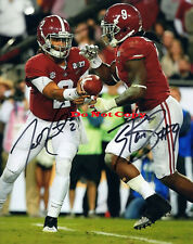 Jalen Hurts & Bo Scarbrough Alabama Autographed 8x10 Signed Photo Reprint