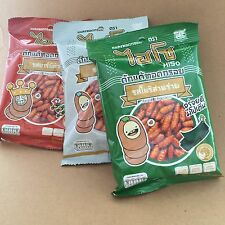 3X MIX FRIED INSECTS WORM FOOD SNACK FLAVOR NORIYAKI WEED BAR B Q SALT EXPORT