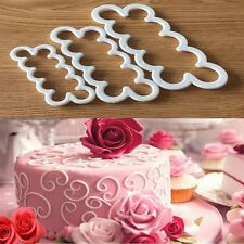 3Size 3D Rose Flower Fondant Cake Chocolate Sugarcraft Mould Mold Decor Tool