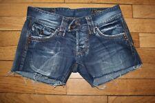P&Y Short en Jeans Femme W 25  Taille Fr 34 (Réf # V-162)