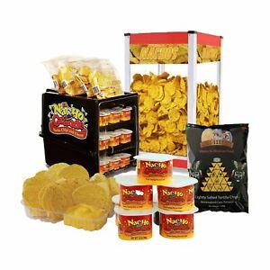 Nachos Kit – Chip Warmer + Cheese Warmer + Cheese Sauce + Tortilla Chips + Trays