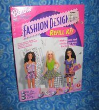 New Barbie Fashion Designer Refill Kit Software 17769 Make Clothes 1997