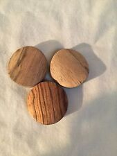 Vintage/never used lot of 3 wood tobacco smoking stones.