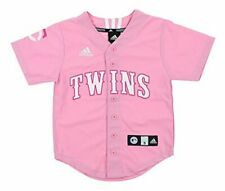 Adidas MLB Youth Girl's Minnesota Twins Applique Jersey, Pink