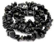 "4-7mm loose beads obsidian irregular shape jewelry gemstone making chips 16"""