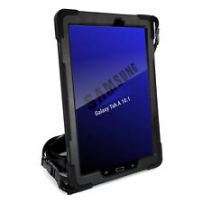 TUFF LUV Rugged Rotating Case & Stand for Galaxy Tab A 10.5 T590 / T595 - Black