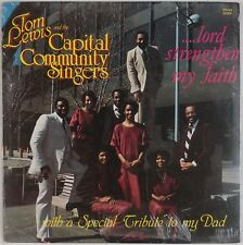 TOM LEWIS & CAPITAL SINGERS: Lord Strengthen PRIVATE Black Gospel Soul SEALED LP