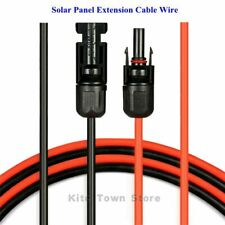 1800 V MC4 Connectors 2 Pairs doble aislamiento BMF DIRECT/® 10 mm Negro 2 y 6 mm color negro y rojo 4 mm Cable de PVC para panel solar
