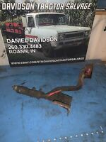 Farmall 300 350 IH tractor front steel hydraulic lines & mounting bracket