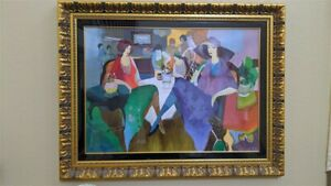 """Authentic """"FANCY EVENING"""" By Itzchak Tarkay - Signed & Numbered-Framed with COA"""