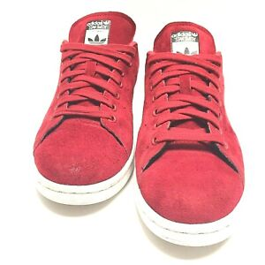 Adidas Stan Smith Mens Shoes Burgundy Suede Sneaker Size 8 Us PreOwned