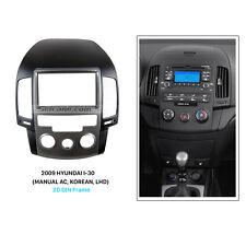 2Din Car Radio Fascia Stereo Panel for 2009 HYUNDAI I-30 MANUAL AC KOREAN LHD