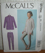 Womens/Misses Jackets Tops & Leggings Sewing Pattern/McCall's M7294/SZ 8-16/UCN