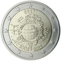 Estonia 2012 Ume Dixième Anniversaire Union Monétaire