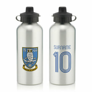 PERSONALISED Sheffield Wednesday FC Gifts - Retro Shirt Water Bottle - Official