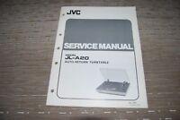 JVC JL-A20 Stereo Vintage Turntable Original Service Manual