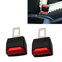 2x Universal Car Safety Seat Belt Extender Extension Buckle Lock Clip