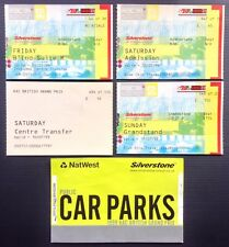 Formula One 1999 British Grand Prix Tickets Silverstone F1 David Coulthard