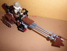 STAR WARS LEGO mini figure REBEL TROOPER SOLDIER goggles + Speeder BIKE toy