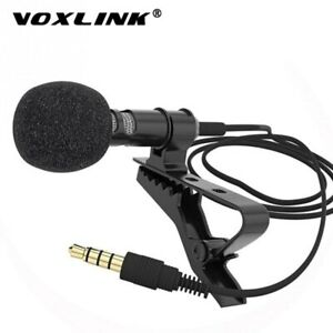 VOXLINK 3.5 mm Microphone Clip Tie Collar  for Mobile Phone Speaking in Lecture