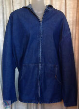 VF JEANSWEAR Womens Blue Denim Hoodie Size 3X Regular. NEW