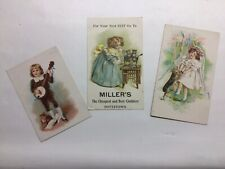 (3) Victorian Trade Cards Furniture, Footwear, Clothes Pottstown, Pa