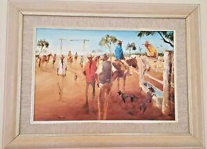 "Keith Naughton (1925-2018) Original Oil ""Irkanda Cattle-yards North Queensland"""