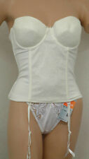 BALLET JUST BE ER38, PADDED, UNDERWIRED, MUTIWAY BUSTIER WITH SUSPENDERS, IVORY