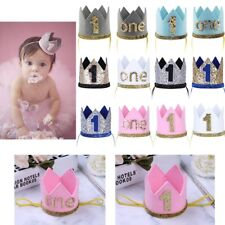 Baby Kid First Birthday Crown Hat Sparkly Tiara Headband Photography Photo Props
