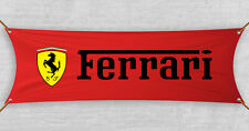 Ferrari Flag Banner Scuderia Automotive Car Shop Garage Red Man Cave (18x59 in)